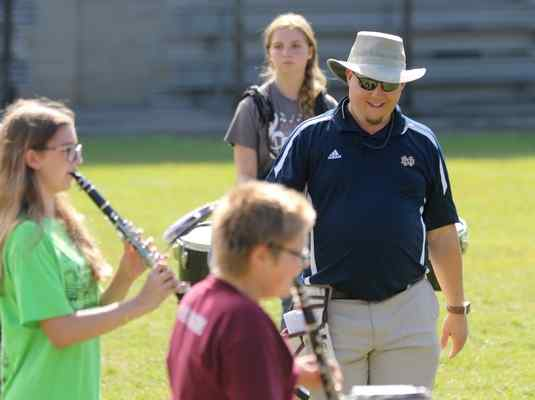 Fairport Harbor marching band director blends experience, understanding, respect to gain great results