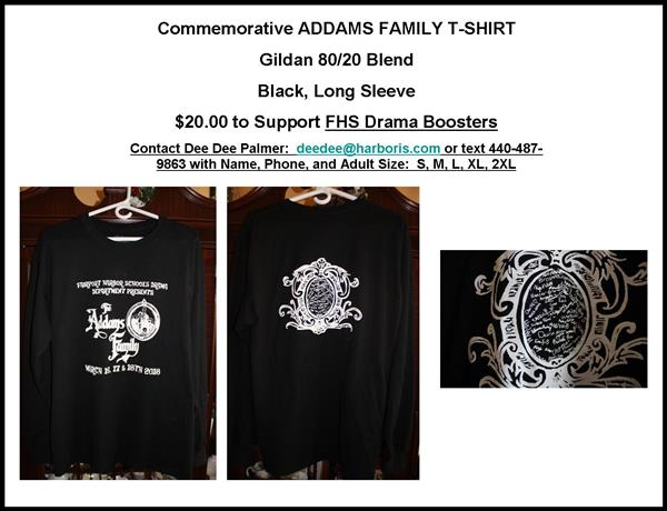 Purchase your Addams Family T-Shirt Today!