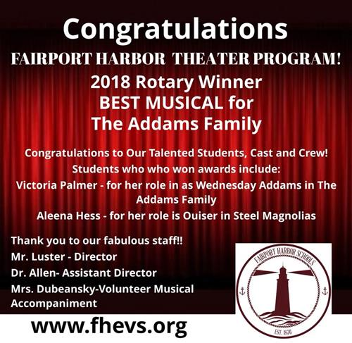 Congratulations to our Fairport Harding High School Drama Department - May 8, 2018