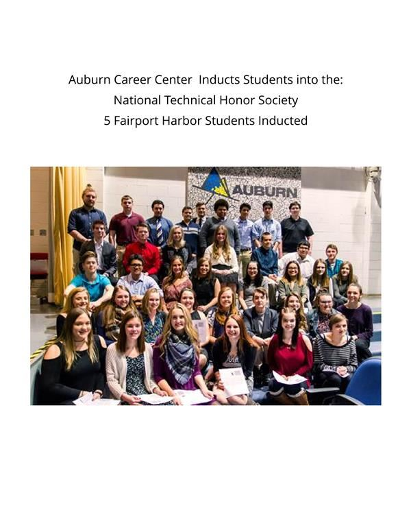 Fairport Students Inducted Into The Auburn Career Center Honor Society