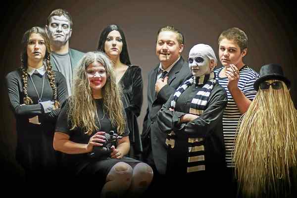'The Addams Family' on stage at Fairport Harding High School - March 14, 2018