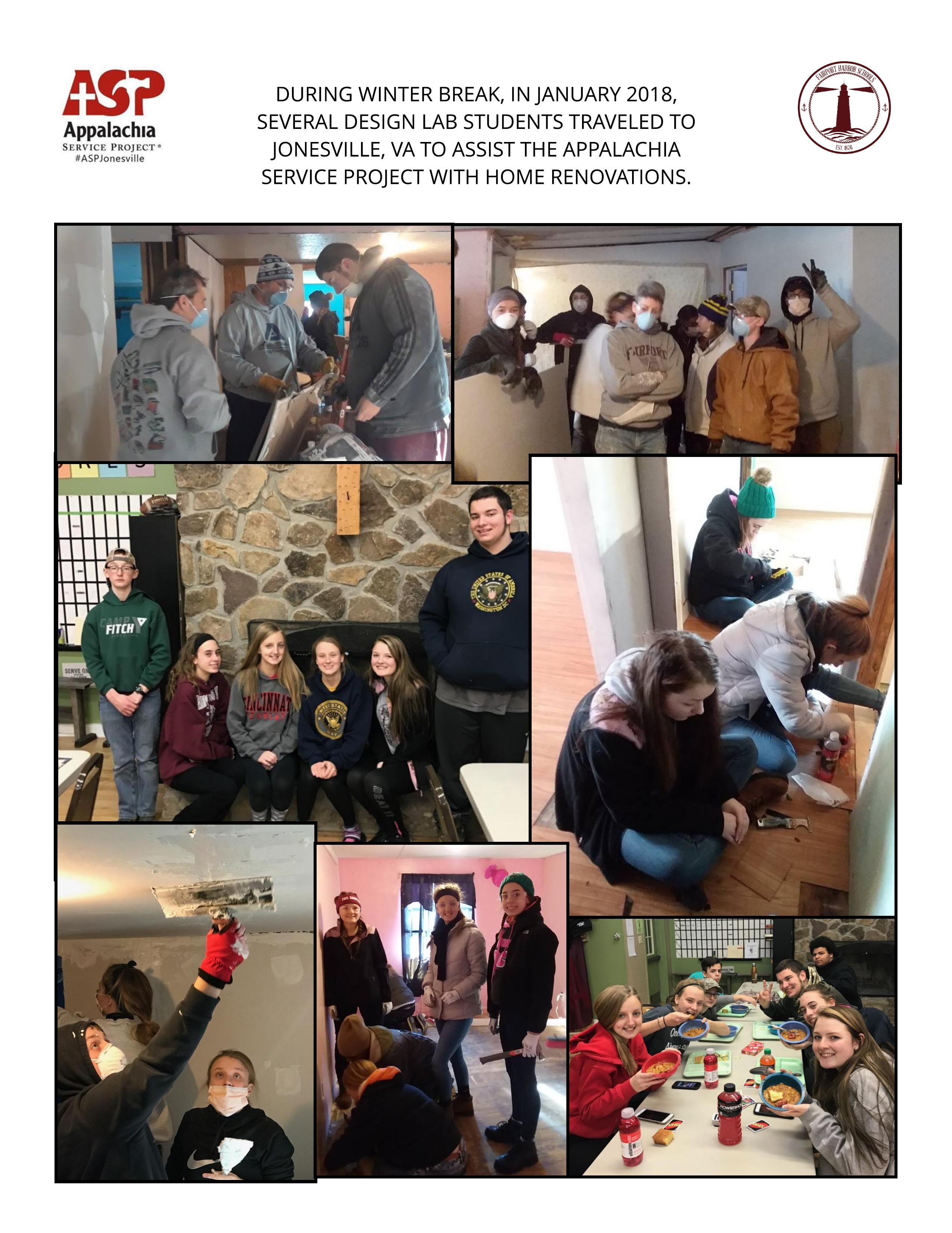 Fairport Harbor Students help ASP