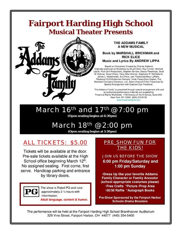 The Addams Family Flyer