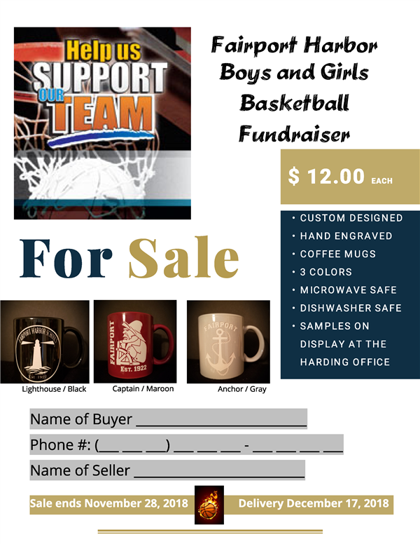 Fairport Harbor Boys and Girls  Basketball  Fundraiser (Ends 11/28/18)