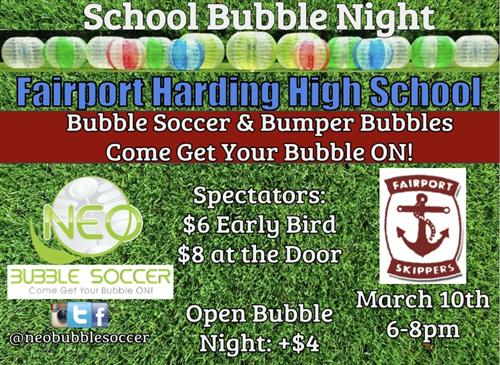 Bubble Ball Fundraiser March 10th 6-8pm