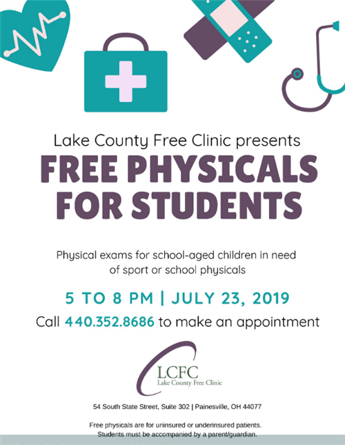 FREE PHYSICALS 7/30