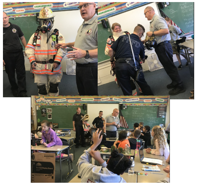 Fire Safety Lessons at McKinley   October 2019