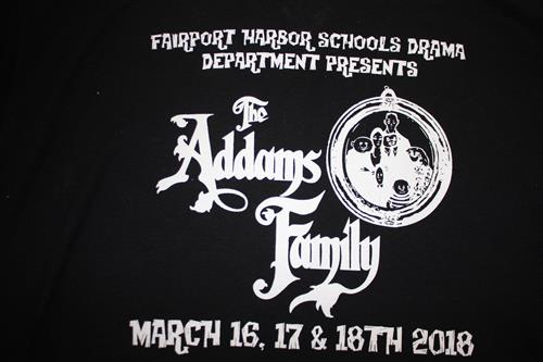 Purchase your Commemorative Addams Family Musical T-shirt Today!