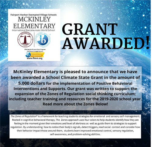 McKinley Elementary Awarded Grant   April 2019