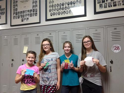 Fairport Harding Jr. High Students Busy Spreading Happiness