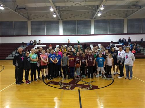 Fairport Girls Basketball Players Hoopin' For a Cure - February 9, 2018