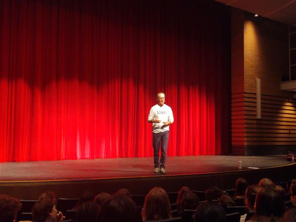 8th Graders traveled to Perry HS to hear David J. Flood speak 10/17/19