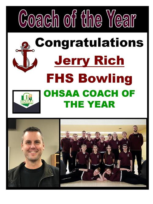 Congrats to our OHSAA Coach of the Year Jerry Rich!