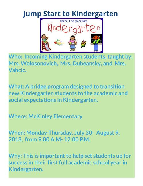 Register for the Jump Start to Kindergarten Summer Bridge Program!