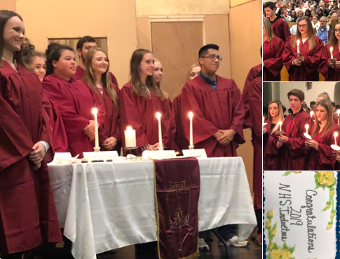 National Honor Society Inductions 1-10-19