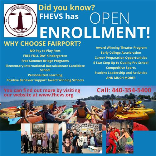 Open Enrollment Information for 2018/2019 School Year