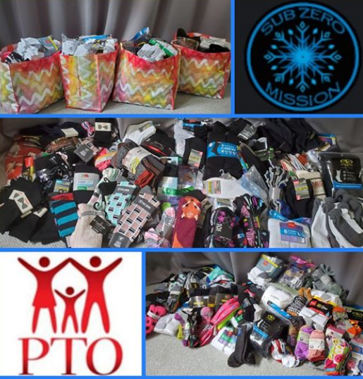 McKinley Elementary Students collect 569 pairs of socks for Subzero Mission! 10/1/19