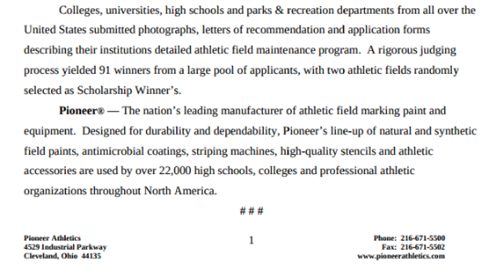Pioneer Athletics page 2