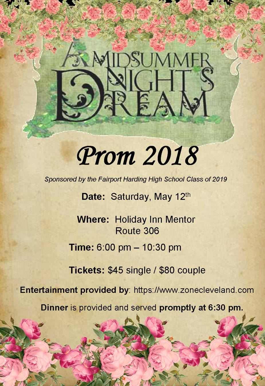 Fairport Harding High School Prom - May 12, 2018