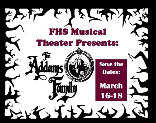 Save the Date - Fairport Harbor Theater Department presents the Spring Musical: The Addams Family