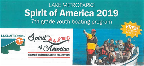 Spirit of America Program for 7th Grade Students Only 3/1 to 5/10