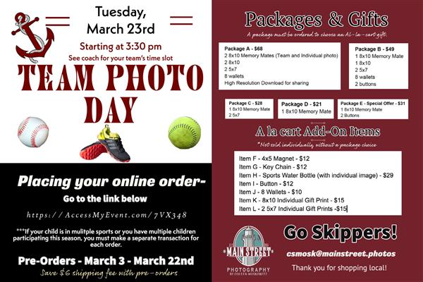 Spring Sports Photos & Ordering Info    3/23/2021