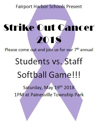 Strike Out Cancer - Saturday, May 19, 2018