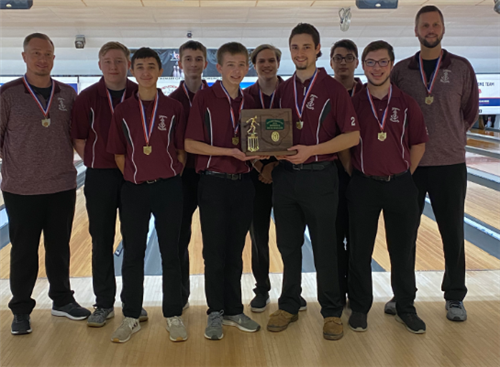 Boys Bowling Team wins Div II NE District Champs!   2/16/20