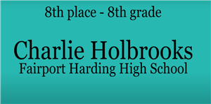 Charlie Holbrooks-8th Place Power of the Pen Regionals