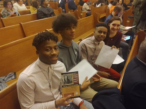 Fairport Students participate in Martin Luther King Jr Day Event at Lake Erie College