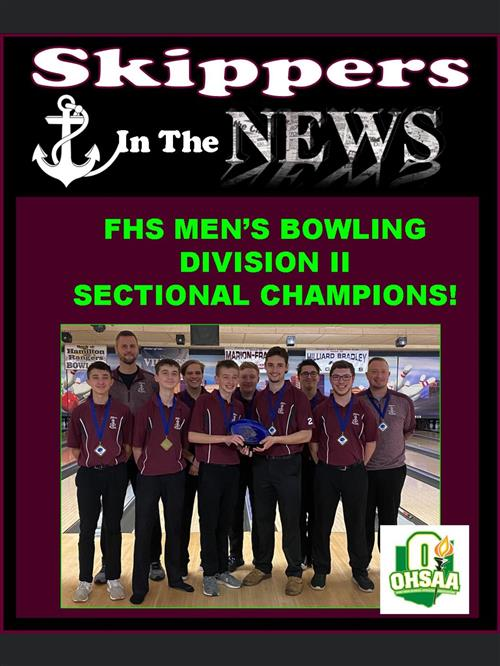 Skippers Boys Bowling Team Wins Again Division II Sectional Champions  2/8/20