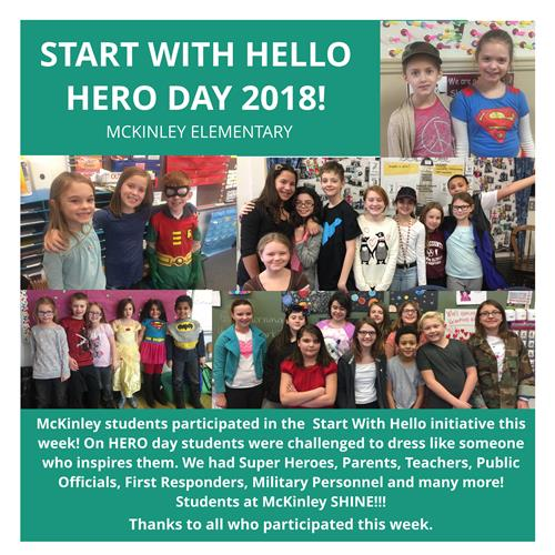 Fairport Students Celebrate Hero Day during Start with Hello Week - February 9, 2018